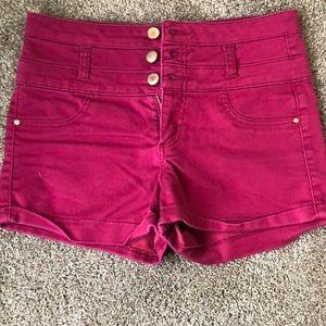 High waisted Refuge maroon shorts Size 6.
